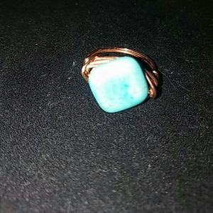 Authentic turquoise handmade in copper